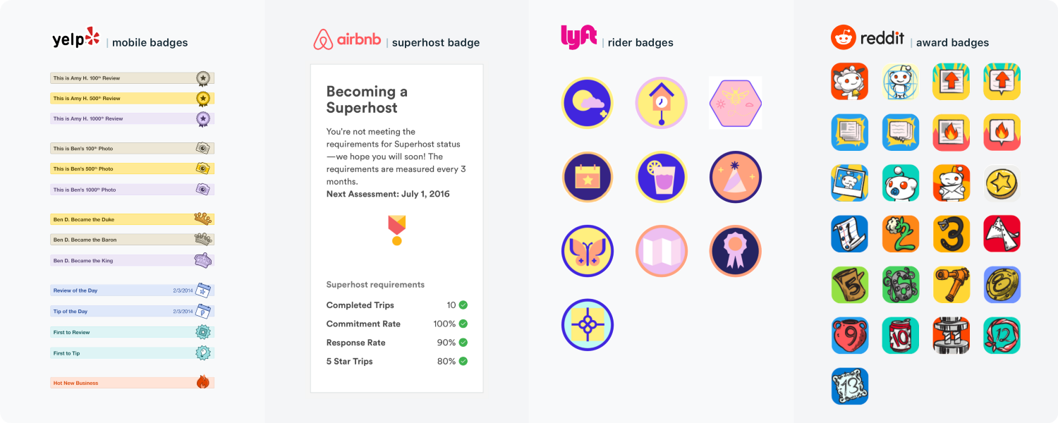 DIGIS awards and badges in popular apps example