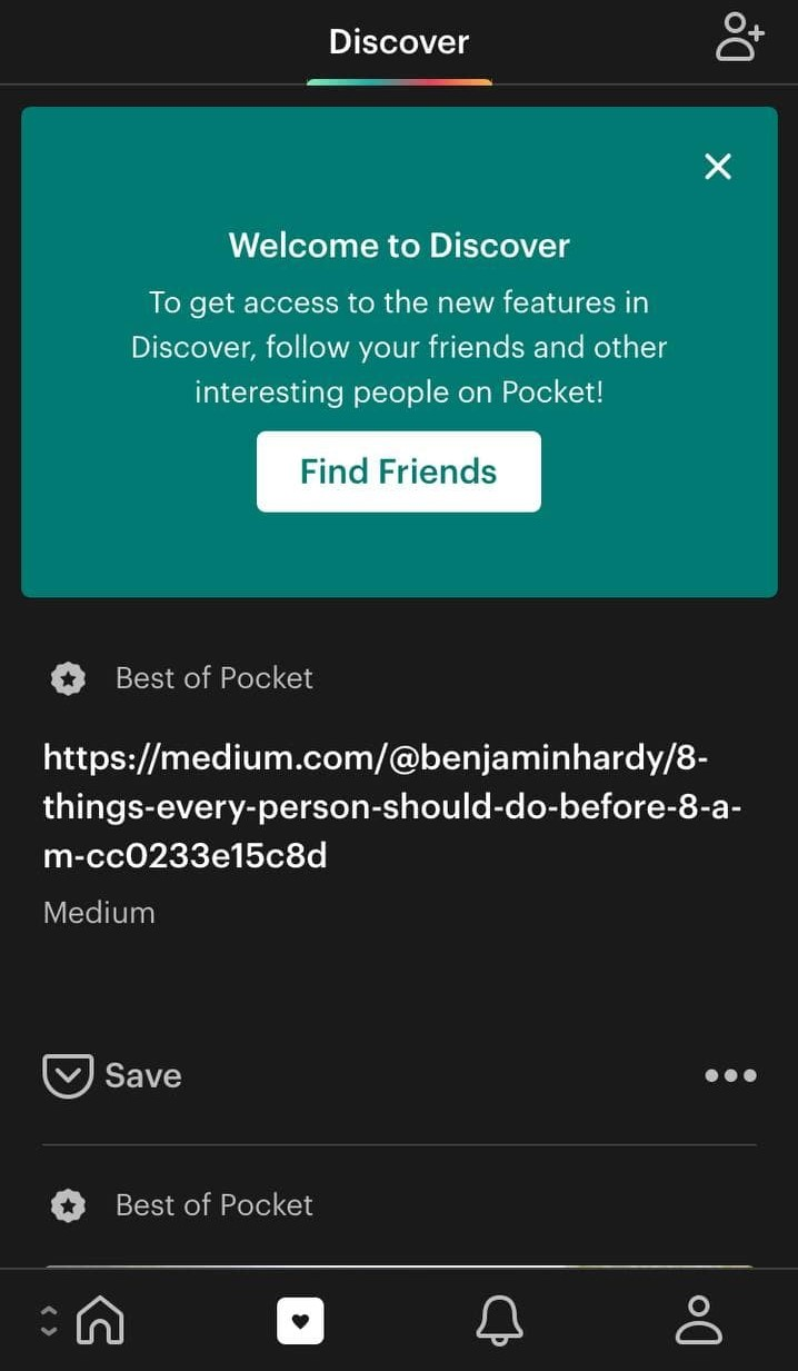 DIGIS Pocket followers in the app example